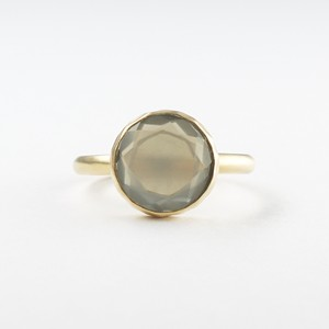Marbles gray moonstone ring