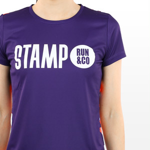 STAMP WOMENS GRAPHIC RUN TEE (Landscape Shapes (purple&multi-color))