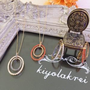 【kiyolakrei】キヨラクレイ ビーズコーラル ネックレス 赤珊瑚 白珊瑚 サファイア K10 k4s02nr k4s02nw (CORALIA)