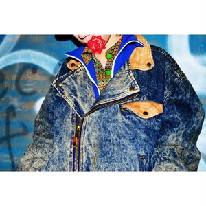 Acid denim riders JKT