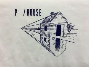 peeping HOUSE TEE white