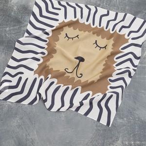 Silk Cotton 'Auther' リング付きミニスカーフ