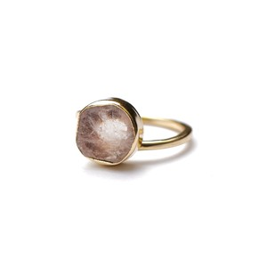 ROUGH STONE RING GOLD 025