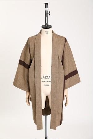 羽織 / 片貝木綿 / One line / Brown(With tailoring)