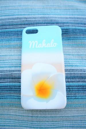 LIFE is lifeプルメリアMahaloスマホケース iPhone5~8用