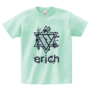 ERICH / HEXAGRAM LOGO T-SHIRT ICE-GREEN
