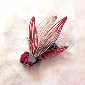水引の髪飾り 青い鳥/赤い鳥