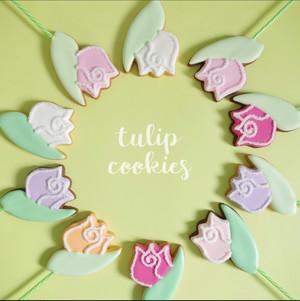 【6色セット】チューリップのアイシングクッキー