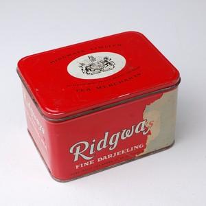 ビンテージ缶 イギリス リッジウェイ 20011201014 アンティーク缶 tin缶 紅茶缶 ビスケット缶 トフィー缶 ブリキ 雑貨
