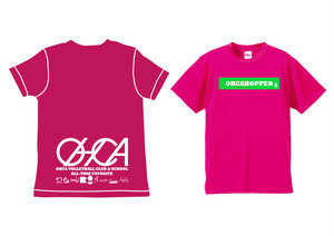 OHCAHOPPERS Tシャツ トロピカルピンク×グリーン007(NEW)
