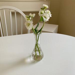 vintage petit glass vase / ヴィンテージ アンティーク調 ガラス ベース 花瓶 一輪挿し 韓国 北欧 インテリア 雑貨
