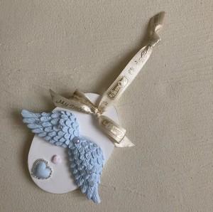 ブルー天使の羽壁掛けアロマストーン