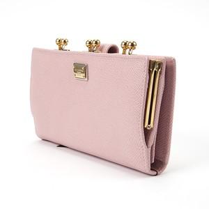 ドルチェ&ガッバーナ 長型がま口財布 ピンク