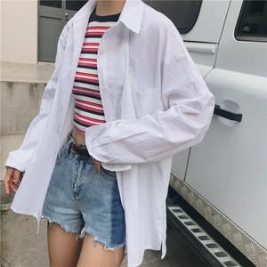 【トップス】新作ファッションシンプルルーズ無地シャツ