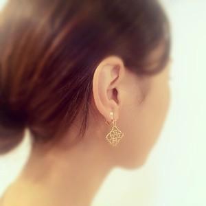 glamorous gold:pierce & earring