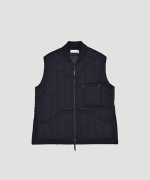 TTT_MSW Quilted Work Vest For BEST PACKING STORE Black 19AW-TTT-WV-BPS