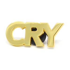 "BALL&CHAIN""CRY LAPEL PIN"""