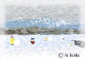 『八ヶ岳の雪景色』 ~グラフィックアートTiki&Puffyシリーズ~ 【清春旅と空想の美術館】