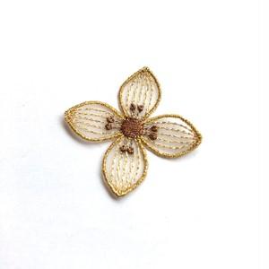 お花モチーフのアイロンワッペン(2色) *ゴールド追加