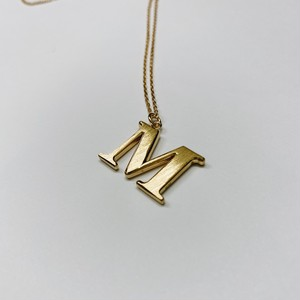 F0050 [silver925 initial necklace/gold]