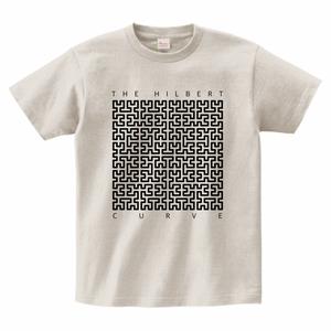 ヒルベルト曲線Tシャツ_(オートミール)/The Hilbert Cueve T-shirt (Oatmeal)