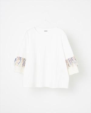 【COOHEM】スプリングエアーツイードTシャツ : ホワイト