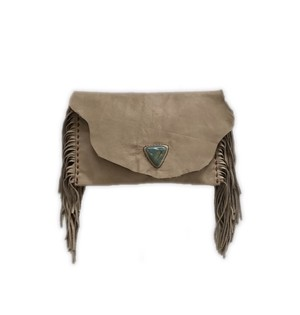 Fringe stone clutch (triangle)