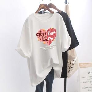 【トップス】No.1 人気商品 ins プリント ラウンドネック デザイン 合わせやすい Tシャツ48749605