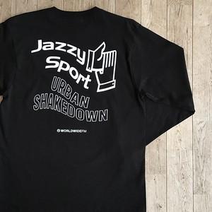 "WWFM × Jazzy Sport's ""Urban Shakedown"" ロングスリーブ Tシャツ/ブラック"