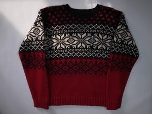 総柄セーター KRU Sweater スノーフレーク柄