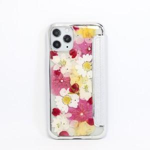 【手帳型:11pro対応】押し花 iPhone case