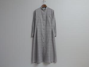 綿シルクの羽織りワンピース