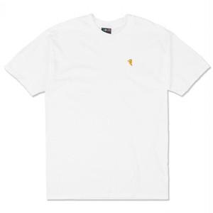 PIZZA SKATEBOARDS EMOJI LOGO TEE / WHITE (ピザスケートボード Tシャツ)