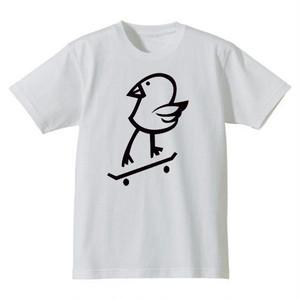 "DISKAH  "" Killy Bird "" メンズ  Tシャツ ホワイト/ブラック"