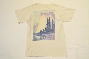 """USED 90s patagonia """"Yosemite El Capitan"""" T-shirt -Small 01048"""