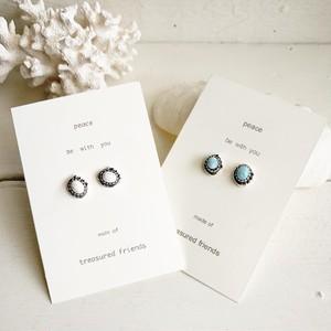 Larimar dots Earrings