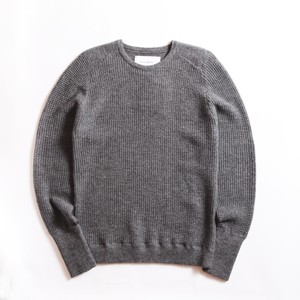 THE INOUE BROTHERS/High Gauge/Waffle Crew Neck/Grey
