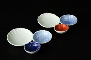 花型三種盛小皿 有田焼