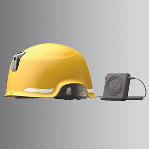 頭部を守る無線機! ヘルメット型 防災用無線機 SAGA D