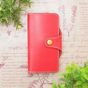ピンクのロールキャベツ/姫路レザー牛本革 iphone XPERIAなど全機種 R-05
