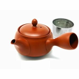 【 洗いやすい茶こし付 】味がまろやかになる 常滑焼 急須/液だれしにくい 深蒸し可 日本製 きつさこ