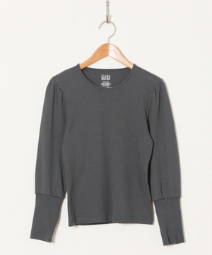 super rib puff l/s tops