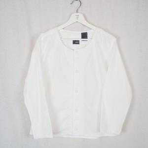 Embroidery No-Collar Cotton Cardigan