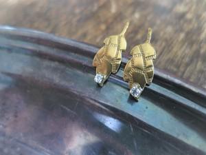 アンティーク タイニーリーフピアス pierced earrings antique leaf <PE-LF1/2>