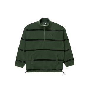 POLAR SKATE CO (ポーラー) / STRIPED FLEECE PULLOVER 2.0 -OLIVE-