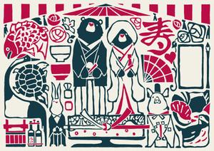ポストカード『Wedding 寿』