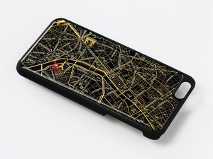 FLASH Paris回路地図 iPhone6/6s Plus ケース 黒【東京回路線図A5クリアファイルをプレゼント】
