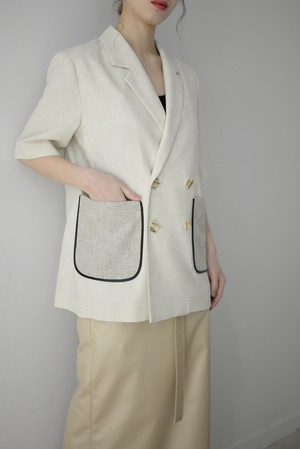 MURRAL / HALF SLEEVE LINEN JACKET