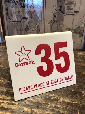 ''Carl's Jr.'' Waiting Plate