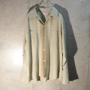 60s Cotton 3Tone Design Loop Shirt